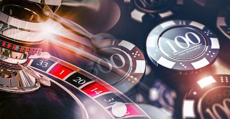 Roulette Rad und Chips